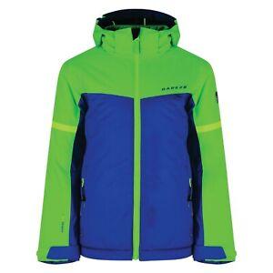 "Dare2b Obscure Boys Ski Jacket Laser Blue/acid green snowboard 11/12 yrs 32"" 34"""