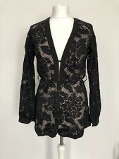 90352ea54972ab Angel Biba Playsuit Black Lace Size 8 Long Sleeve V Neck