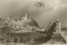 Macduff, near Banff. Scotland. BARTLETT 1842 old antique vintage print picture