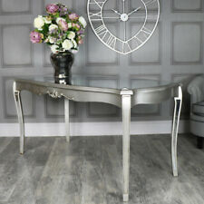 Large silver mirrored dining table vintage elegant vintage chic home furniture