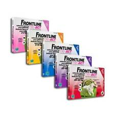 FRONTLINE TRI-ACT dog tick and flea treatment  3 pipettes all sizes