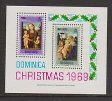 MNH STAMP MINIATURE SHEET DOMINICA CHRISTMAS 1969