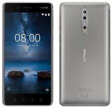 BRAND NEW NOKIA 8 64GB - 4GB RAM - NFC - 13MP CAMERA - 4GB - STEEL - UNLOCKED