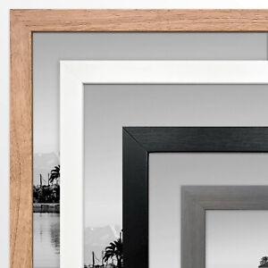 Oxford Photo Poster Large Frame Black White Grey Oak Effect A2 Wall Mounted UK