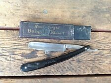 Hand Forged Bengall Straight Razor Sheffield England in Partial Box