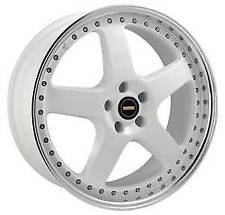 "18"" INCH SIMMONS FR1 WHEELS 18X8.5 x9.5 RIMS ALLOY X4 5x114.3 5x120 HOLDEN FORD"