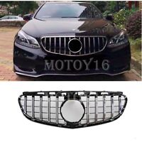 For Mercedes Benz E Class W212 Facelift GT GTR Panamericana Grill Grille 2014 15