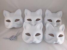 New Japanese Fox KITSUNE Mask OMEN 5 set Cosplay Costume Rare Halloween Japan