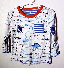 Little Maven Boys Striped Multi Color Long Sleeve Cotton Dinosaur Shirt Size 3T