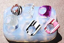BIG Clear handmade Silicone Mold for 6 Ring ,MIX size (304) Free USA Shipping.
