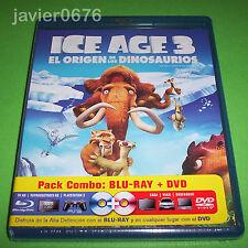 ICE AGE 3 EL ORIGEN DE LOS DINOSAURIOS BLU-RAY NUEVO Y PRECINTADO