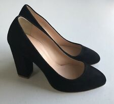 NEW $238 JCREW Womens 5 Stella Suede Pumps Black Heels Italy B0942