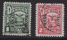 Canal Zone Sc 68-69 used, light cancels, VF