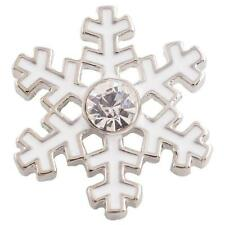 Fits Ginger Snaps Snowflake SNAP Interchangeable Jewelry Button Charm 18mm