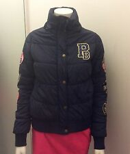 PAULS BOUTIQUE Navy Quilted Bomber Jacket. Size M fits Uk 8/10