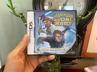 Nintendo DS STAR WARS The CLONE WARS JEDI ALLIANCE Complete + Manual + Insert