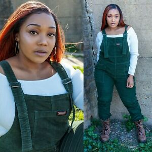 Run and Fly Forest Green Stretch Corduroy Dungarees Overalls 3XS-XXL