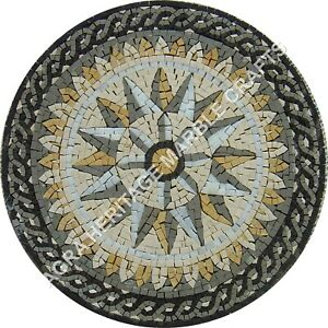 "30"" Elegant Marble Round Coffee Cafe Table Top Mosaic Pietra Dura Inlaid E918"
