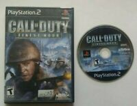 Call of Duty Finest Hour PlayStation 2 PS2  Game Tested and Works