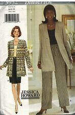 3932 UNCUT Butterick SEWING Pattern Misses Jacket Top Skirt Pants Jessica Howard