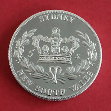 AUSTRALIA SYDNEY NSW 1840 ALUMINIUM PROOF PATTERN CROWN - mintage 18