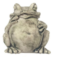 Grey Garden Toad Statue, Dolls House Garden Miniature Feature, Frog