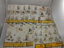 Vintage American Greetings Holly Hobbie Giftwrap Paper Set of 9