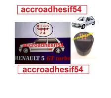 Sticker autocollant  Pommeau Renault 5 GT turbo GTT R5 gearknob gear kno