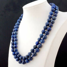 Natural AA+ 10mm Lapis Lazuli Round Beads Necklace 36'' JN930A