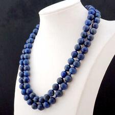 Natural 10mm Lapis Lazuli Round Beads Necklace 36'' JN930