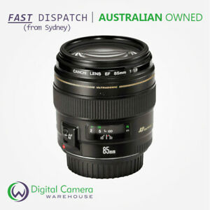 Canon EF 85mm f/1.8 USM Fixed Focal Length Prime Lens - 5 Year Aussie Warranty