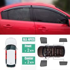 4Pcs Window Sunshade UV Ray Protector Mesh Block Privacy Visor For Mazda 3 Sedan