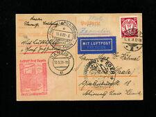 Zeppelin Sieger 462 1939 LZ 130 EGER Flight Danzig Post on Postal Stationery