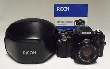 RICOH KR-30sp 35mm SLR Film Camera w/2.0 50mm Rikenon P Lens Case & Manual