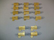 Lot of 16 Dale RH-25 Resistors 25W 25Ω 1% - USED