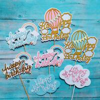 1PC Luft Ballon Rainbow Cake Topper Kuchen Top Flag Glitter Kuchen Dekor mode