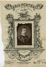 Paris Theatre, Jules Lefebvre vintage  print Photo glyptie  8x13  Circa 18