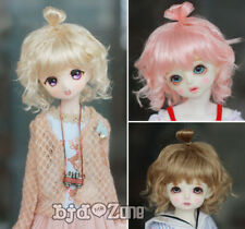 NEW 21.5-23.5cm Meatball head Pink/Milk Golden/Brown For 1/3 BJD Doll Wig