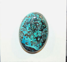 Chrysocolla Cabochon 25x18mm from Peru with 6mm dome (10637)