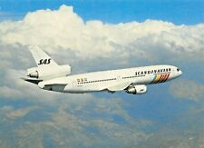 The SAS DC10-30 Business Airline  Airplane Postcard