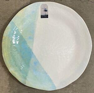 Artisan De Luxe Green Watercolor Abstract MELAMINE Serving Tray Platter