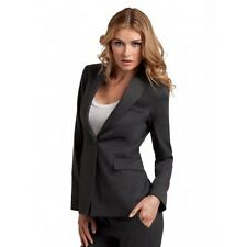 NWT GUESS by Marciano gray Stella Collarless Blazer virgin wool blend size 0