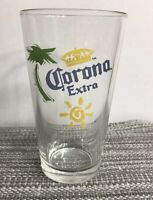 Corona Extra Palm Tree & Sun Logo Beer Glass 16 Oz Mexican Pint Glass
