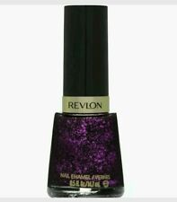 REVLON Glitter Nail Enamel in -EDGY -Full Size bottle  Purple Glitter