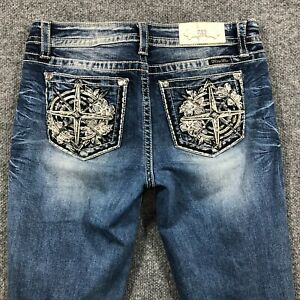 Miss Me Womens 30 CLOE BOOT Western Stretch Denim Jeans Med Wash Meas. 32W x 33L