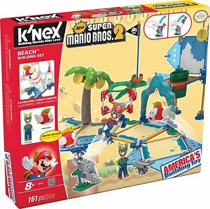 K'NEX New Super Mario Bros 2 Beach Building Set #38624 Limited Edition