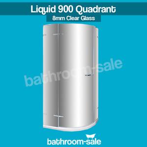 Liquid 900mm Quadrant Framless Clear Glass 8mm   RRP: £999