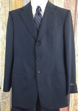 New Giorgio Armani Mani Men's Wool Black Pinstripe 2 Piece Suit 40 Regular Sz 34