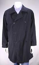 GIORGIO ARMANI Black Label black Wool Trench Coat w/ Loro Piana Fabric 40R