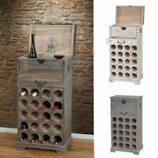 Serie Vintage portabottiglie per vini Lucan legno paulonia 31x48x94cm